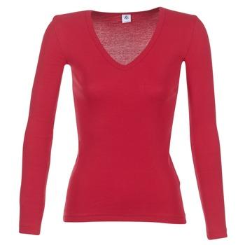 Textil Ženy Trička s dlouhými rukávy Petit Bateau  Červená
