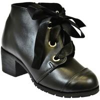 Boty Ženy Polokozačky John-C Dámske čierne čižmy ESPATRA čierna