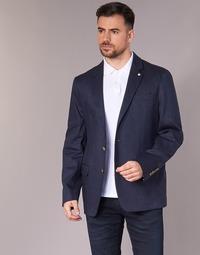 Textil Muži Saka / Blejzry Serge Blanco SUTTON Tmavě modrá