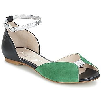 Boty Ženy Sandály Betty London INALI Černá / Stříbřitá / Zelená