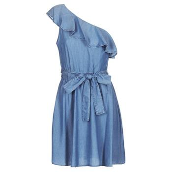 Textil Ženy Krátké šaty MICHAEL Michael Kors ONE SHLDR RUFFLE DRS Džínová modř