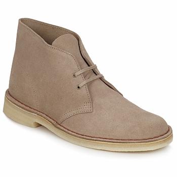 Boty Muži Kotníkové boty Clarks DESERT BOOT Písková