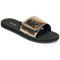 Boty Ženy pantofle MICHAEL Michael Kors MK SLIDE Černá / Zlatá