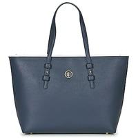 Taška Ženy Velké kabelky / Nákupní tašky Tommy Hilfiger TH SIGNATURE STRAP TOTE Tmavě modrá / Bílá / Červená