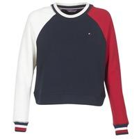 Textil Ženy Mikiny Tommy Hilfiger APRIL-ROUND-NK-SWEATSHIRT Modrá / Bílá / Červená