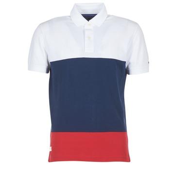 Textil Muži Polo s krátkými rukávy Tommy Hilfiger WCC-CALEB-COLOURBLOCK-POLO-S/S-RF Bílá / Modrá / Červená