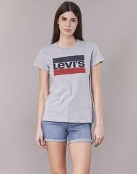 Textil Ženy Trička s krátkým rukávem Levi's THE PERFECT TEE Šedá