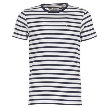 Textil Muži Trička s krátkým rukávem Tommy Jeans TJM REG STRIPE CN KNIT S/S 15 Tmavě modrá / Šedá / Sepraný