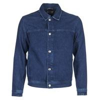 Textil Muži Riflové bundy Tommy Jeans TJM STREET TRUCKER JKT Modrá