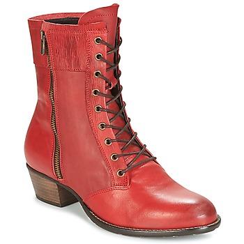 Boty Ženy Polokozačky Dkode RONNIE Červená