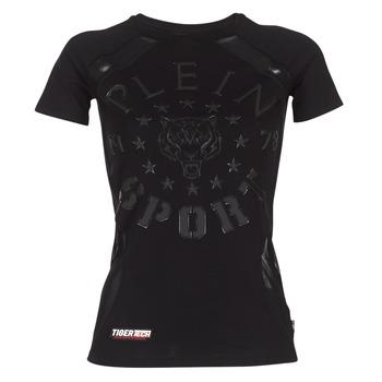 Textil Ženy Trička s krátkým rukávem Philipp Plein Sport FORMA LINEA Černá