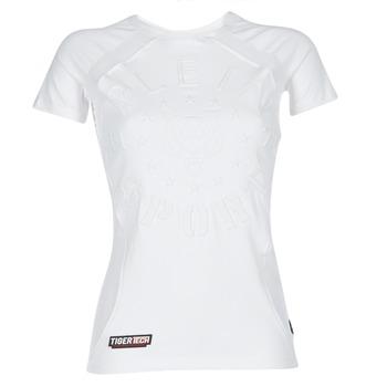 Textil Ženy Trička s krátkým rukávem Philipp Plein Sport FORMA LINEA Bílá / Bílá