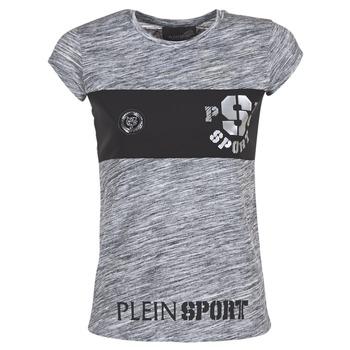 Textil Ženy Trička s krátkým rukávem Philipp Plein Sport THINK WHAT U WANT Šedá