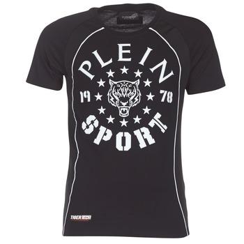 Textil Muži Trička s krátkým rukávem Philipp Plein Sport LIONEL Černá / Bílá