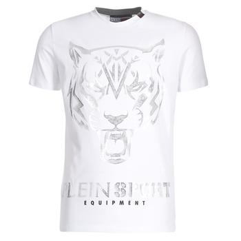 Textil Muži Trička s krátkým rukávem Philipp Plein Sport EDBERG Bílá / Stříbrná