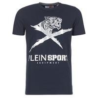Textil Muži Trička s krátkým rukávem Philipp Plein Sport BORIS Tmavě modrá / Stříbrná
