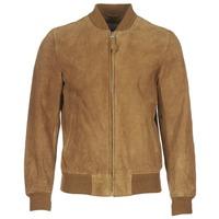 Textil Muži Kožené bundy / imitace kůže Schott LC301 Zlatohnědá