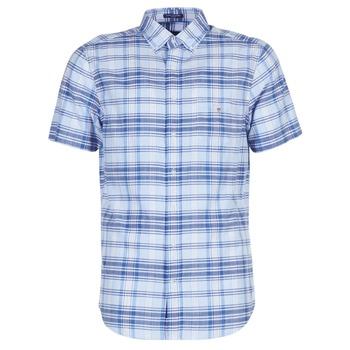 Textil Muži Košile s krátkými rukávy Gant BLUE PACK MADRAS REG Modrá