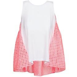 Textil Ženy Tílka / Trička bez rukávů  Manoush AJOURE CARRE Bílá / Růžová