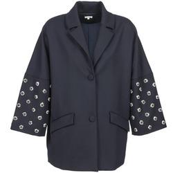 Textil Ženy Kabáty Manoush CABOCHON Tmavě modrá