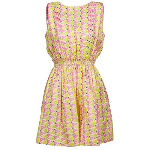Textil Ženy Krátké šaty Manoush FLAMINGO Růžová / Žlutá