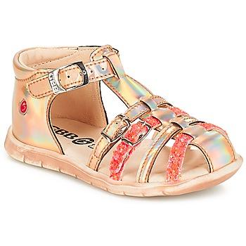 Boty Dívčí Sandály GBB PERLE Růžová / Metal