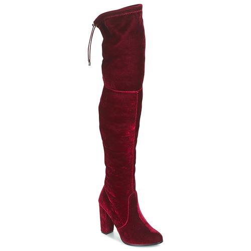 Boty Ženy Vysoké kozačky nad kolena Buffalo  Červená