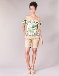 Textil Ženy Kraťasy / Bermudy Guess BENARIO Béžová