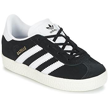 Boty Děti Nízké tenisky adidas Originals GAZELLE I Černá / Bílá