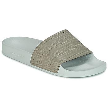 Boty pantofle adidas Originals ADILETTE Béžová / Zelená