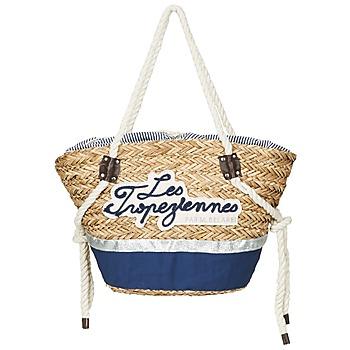 Taška Ženy Velké kabelky / Nákupní tašky Les Tropéziennes par M Belarbi AUDENGE Béžová / Tmavě modrá