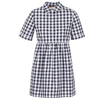 Textil Ženy Krátké šaty Moony Mood IKAMAL Bílá / Černá
