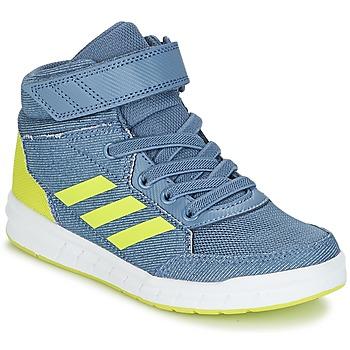 Boty Chlapecké Kotníkové tenisky adidas Performance ALTASPORT MID EL K Modrá