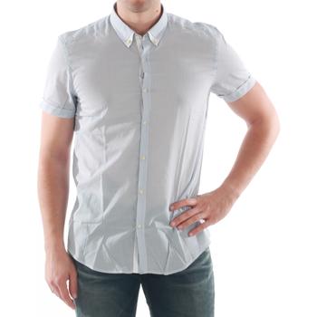 Textil Muži Košile s krátkými rukávy Antony Morato AMT05200 Azul claro