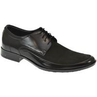 Boty Muži Šněrovací společenská obuv Basso Lavagio PÁNSKE ČIERNE KOMBINOVANÉ POLTOPÁNKY MILES čierna