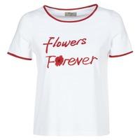 Textil Ženy Trička s krátkým rukávem Betty London INNATIMBI Bílá / Červená