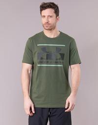 Textil Muži Trička s krátkým rukávem Under Armour BLOCKED SPORTSTYLE LOGO Khaki
