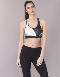 Textil Ženy Sportovní podprsenky Under Armour ARMOUR MID KEYHOLE PRINT Černá / Bílá