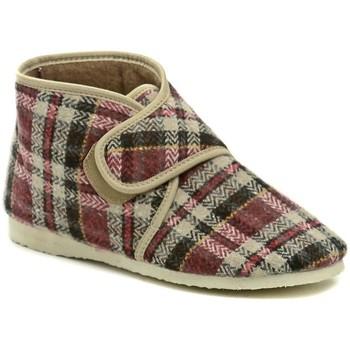 Boty Ženy Papuče Pegres 1036 kárované dámské kotníkové papuče Multicolor