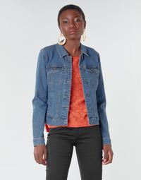 Textil Ženy Riflové bundy Vero Moda VMHOT SOYA Modrá