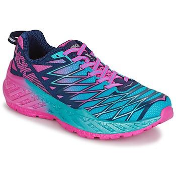 Boty Ženy Běžecké / Krosové boty Hoka one one W CLAYTON 2 Modrá / Růžová