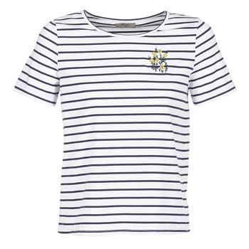 Textil Ženy Trička s krátkým rukávem Betty London INNAMOU Bílá / Tmavě modrá
