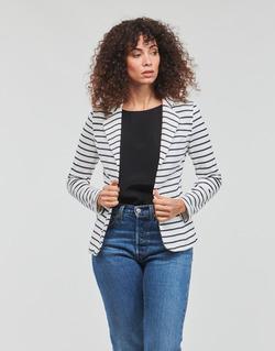 Textil Ženy Saka / Blejzry Moony Mood IFAROUCHE Bílá / Tmavě modrá