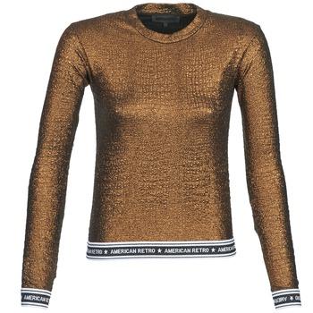 Textil Ženy Trička s dlouhými rukávy American Retro ALLAN Zlatá
