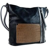 Taška Ženy Kabelky  Sun-bags Dámská crossbody kabelka s čelní kroko kapsičkou F-014 černá Černá