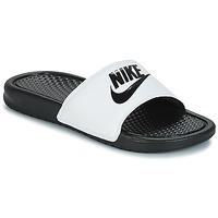 Boty Muži pantofle Nike BENASSI JUST DO IT Bílá / Černá