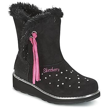 Boty Dívčí Zimní boty Skechers SPARKLES Černá / Růžová