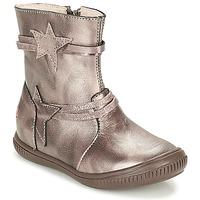 Boty Dívčí Kotníkové boty GBB NOTTE Šedobéžová / Bronzová