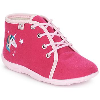 Boty Dívčí Papuče GBB FEE ARC EN CIEL Růžová