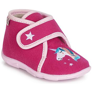 Boty Dívčí Papuče GBB FEE DES BOIS Růžová